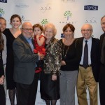 Honoree Allen Berger, Ruth Hollman, and his family and friends.