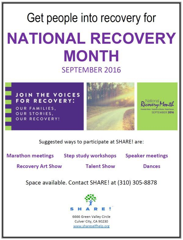 Let's Celebrate – September is National Recovery Month!