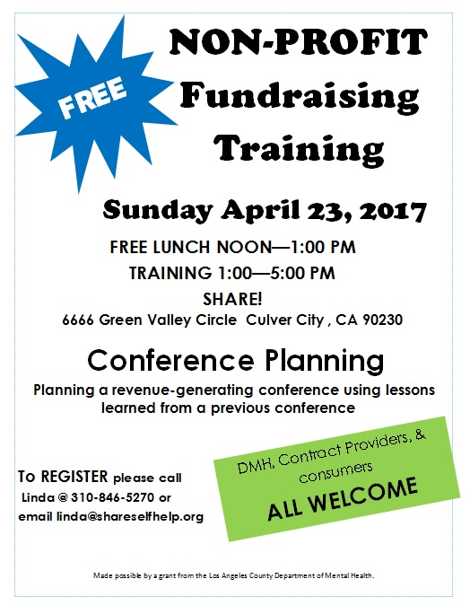 FREE Non-Profit Training – Conference Planning