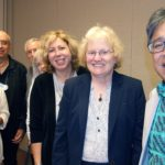 Psychology experts pose with honoree Ruth Hollman